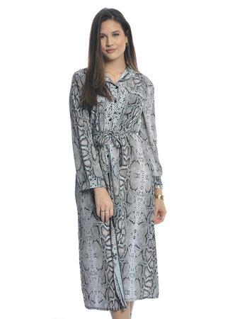 TESS V Long snake dress