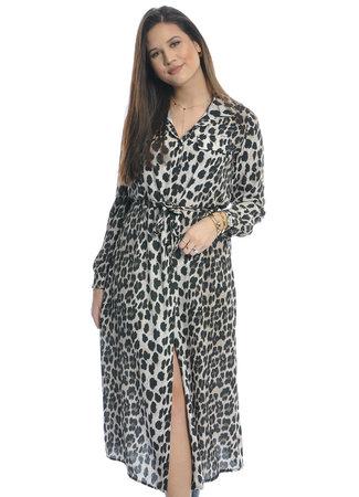 TESS V Long leopard dress
