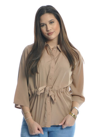 Iben top beige
