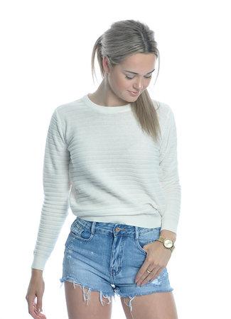 Peyton pullover white
