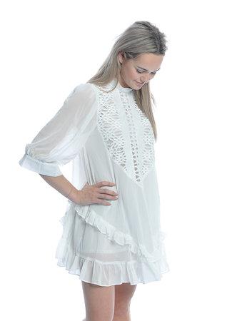 TESS V Alice dress white