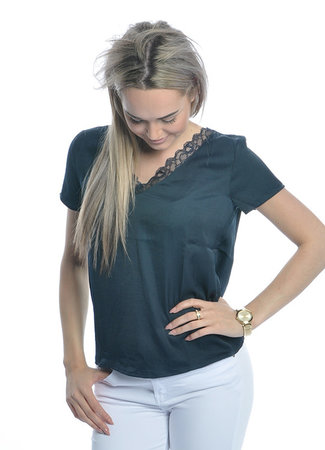 Lolly lace top blue