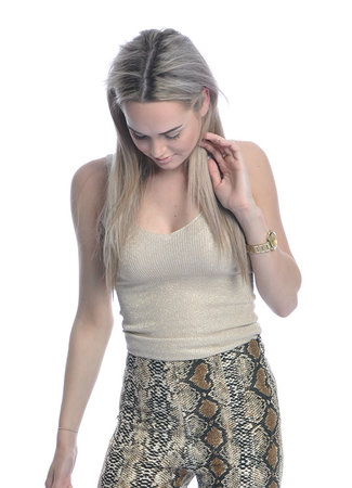 Glamour top gold
