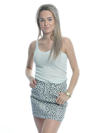 Glamour top silver
