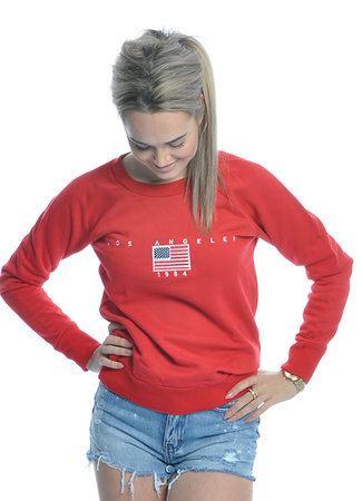 TESS V LA sweater red