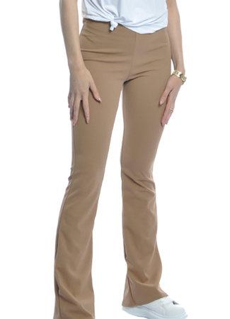 TESS V Luna flare pants beige