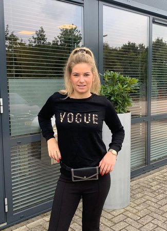 TESS V Vogue sweater black