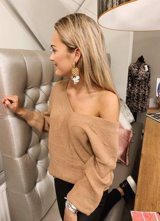 TESS V Britt sweater beige