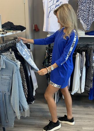 TESS V LOVE dress blue