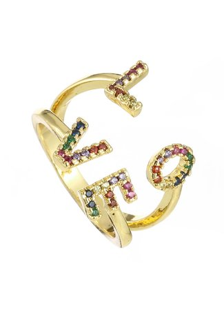 TESS V LOVE ring