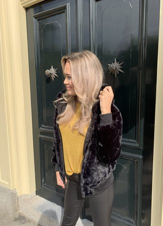 Kacy reversible jacket black
