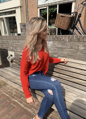 Megan pullover red
