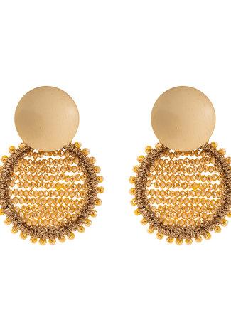 TESS V Sunshine oorbellen gold