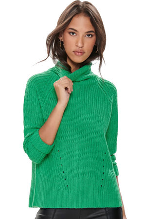 Justy neck sweater green