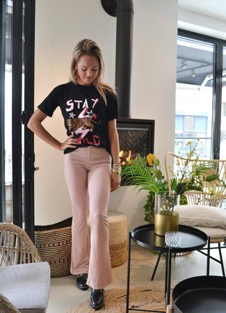 TESS V Nina flared pants pink