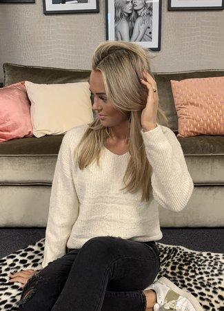 TESS V Emmy glitter sweater beige