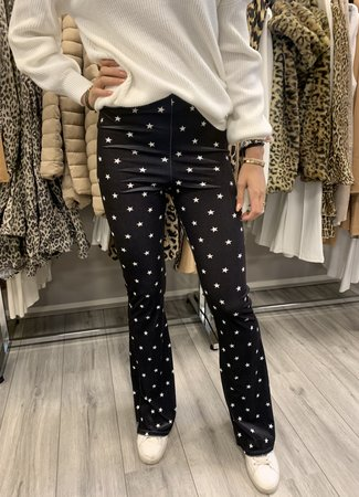 TESS V Stars flared pants