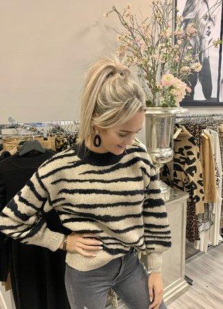 TESS V Fem sweater zebra