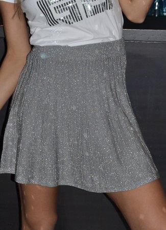 TESS V Glitter silver skirt