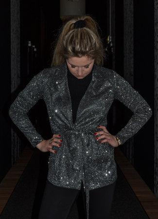 TESS V Gina Glitter blazer