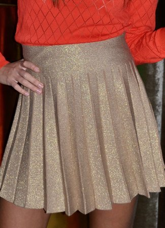 TESS V Lulu skirt gold