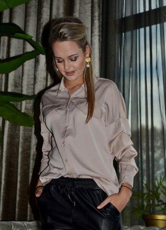 TESS V Feline blouse beige