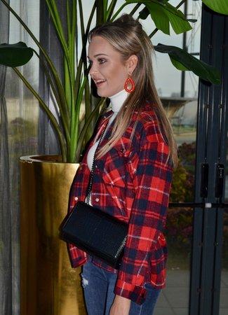 TESS V May checkered blouse