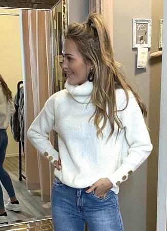TESS V Rose sweater white