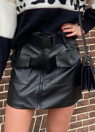 TESS V Marly leather skirt