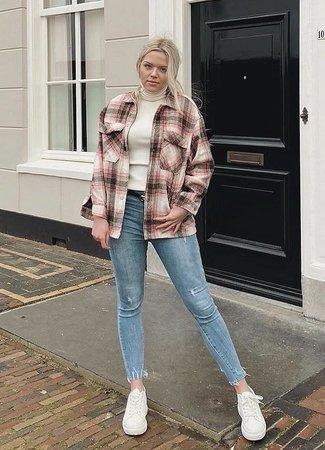TESS V Liva checkered jacket