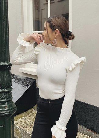 TESS V Luna top white