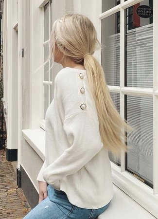 TESS V Lizzie sweater white