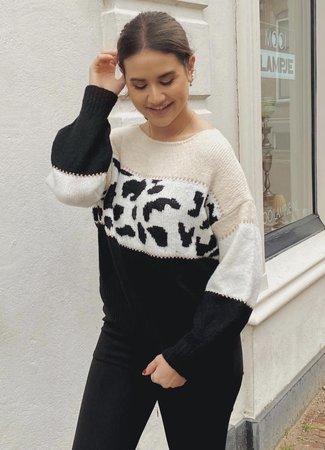 TESS V Iris sweater black