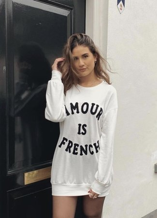 TESS V Amour sweater white