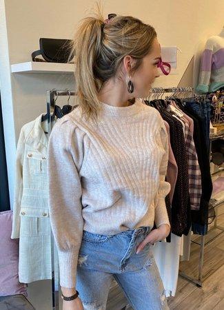 TESS V Soof sweater beige