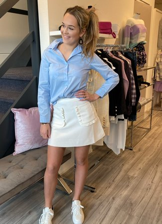 TESS V Lexie skirt white