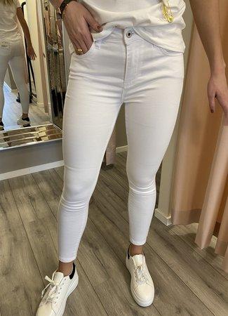 Queen Hearts Queen Hearts Esmee jeans white