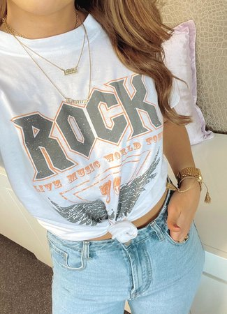 TESS V Rock tee grey