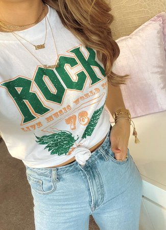 TESS V Rock tee green
