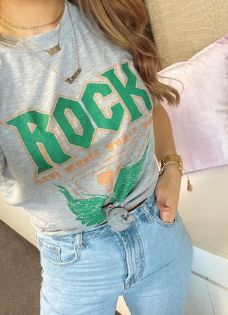 TESS V Rock tee sea green