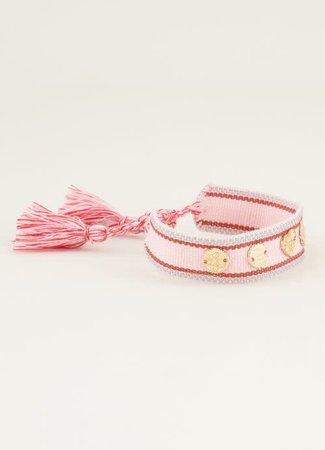My Jewellery Bohemian armband met bedeltjes roze
