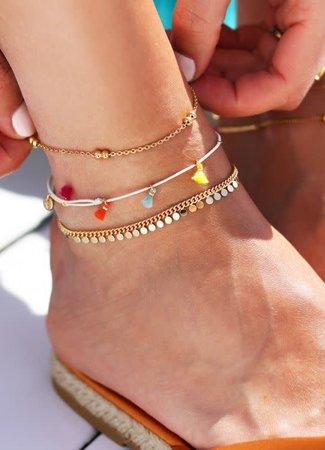My Jewellery Enkelbandje dubbele bolletjes gold