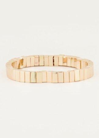My Jewellery Armband met goudkleurige platte kralen