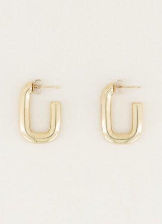 My Jewellery Rechthoekige oorhangers klein