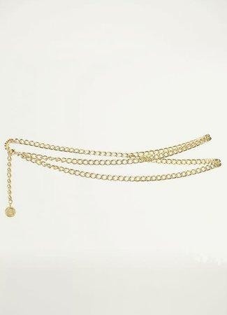 My Jewellery Goud kleurige ketting riem La Vita è Bella