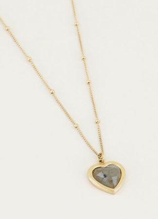 My Jewellery Ketting Labradorite hartje