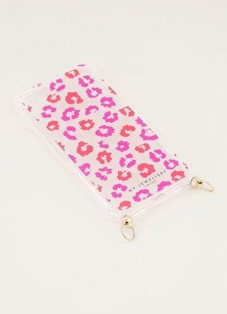 My Jewellery Telefoonhoesje rood roze leo