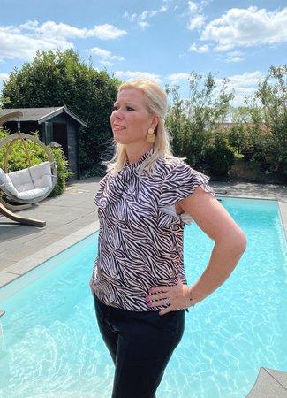 TESS V Rosanne blouse zebra