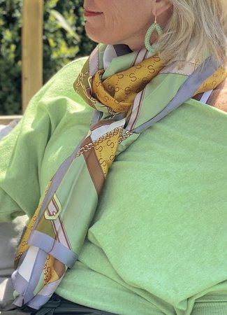 TESS V Lotte sjaal green