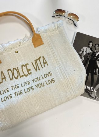 TESS V Dolce vita bag white
